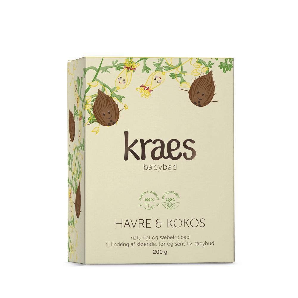 KRAES babybad – havre & kokos 200g