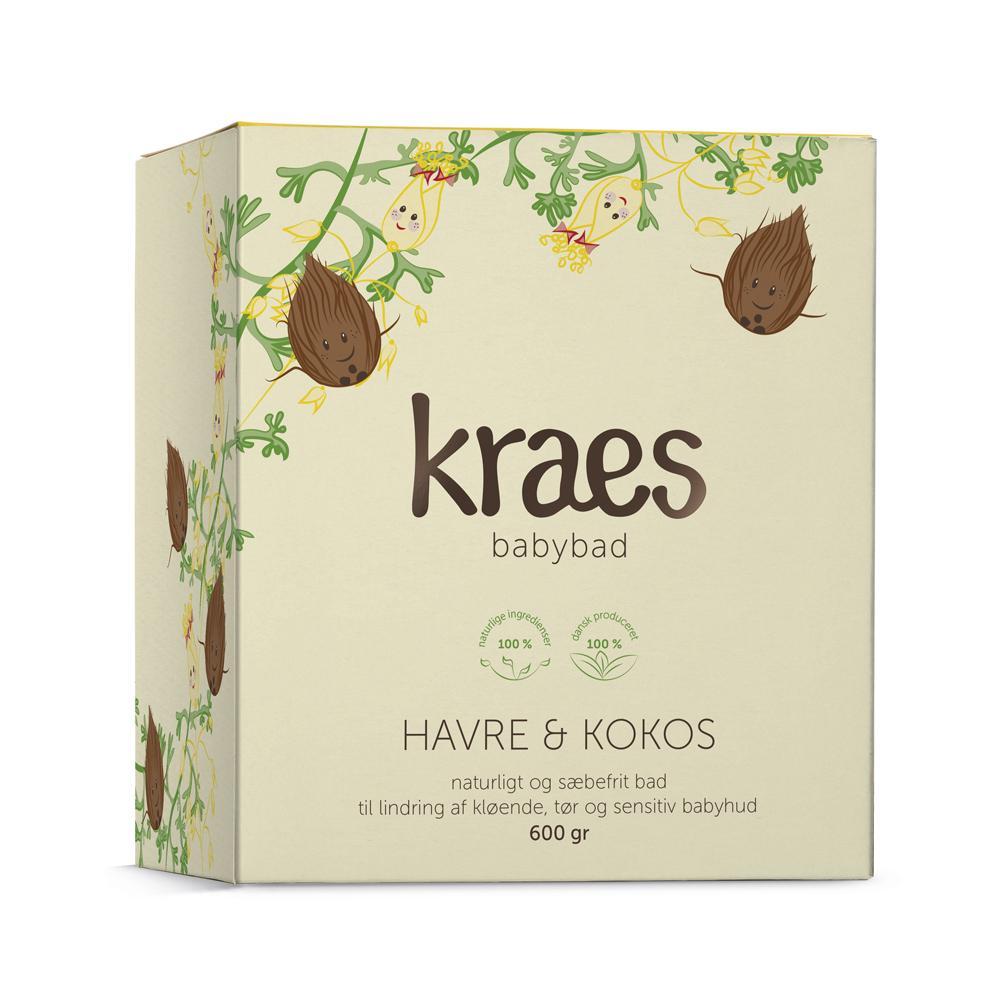 KRAES babybad – havre & kokos 600g (refill)
