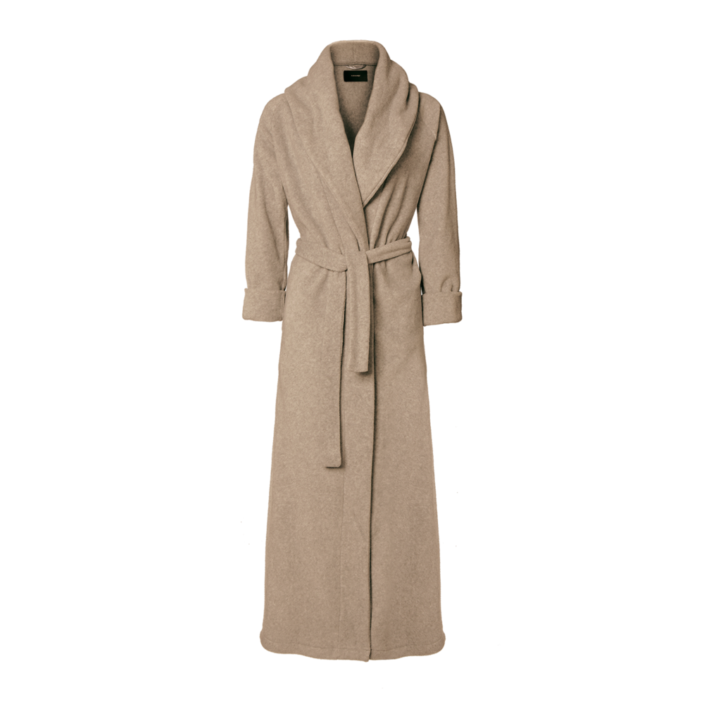 Karmameju MOUNT EVEREST / FLEECE BATHROBE lysebrun