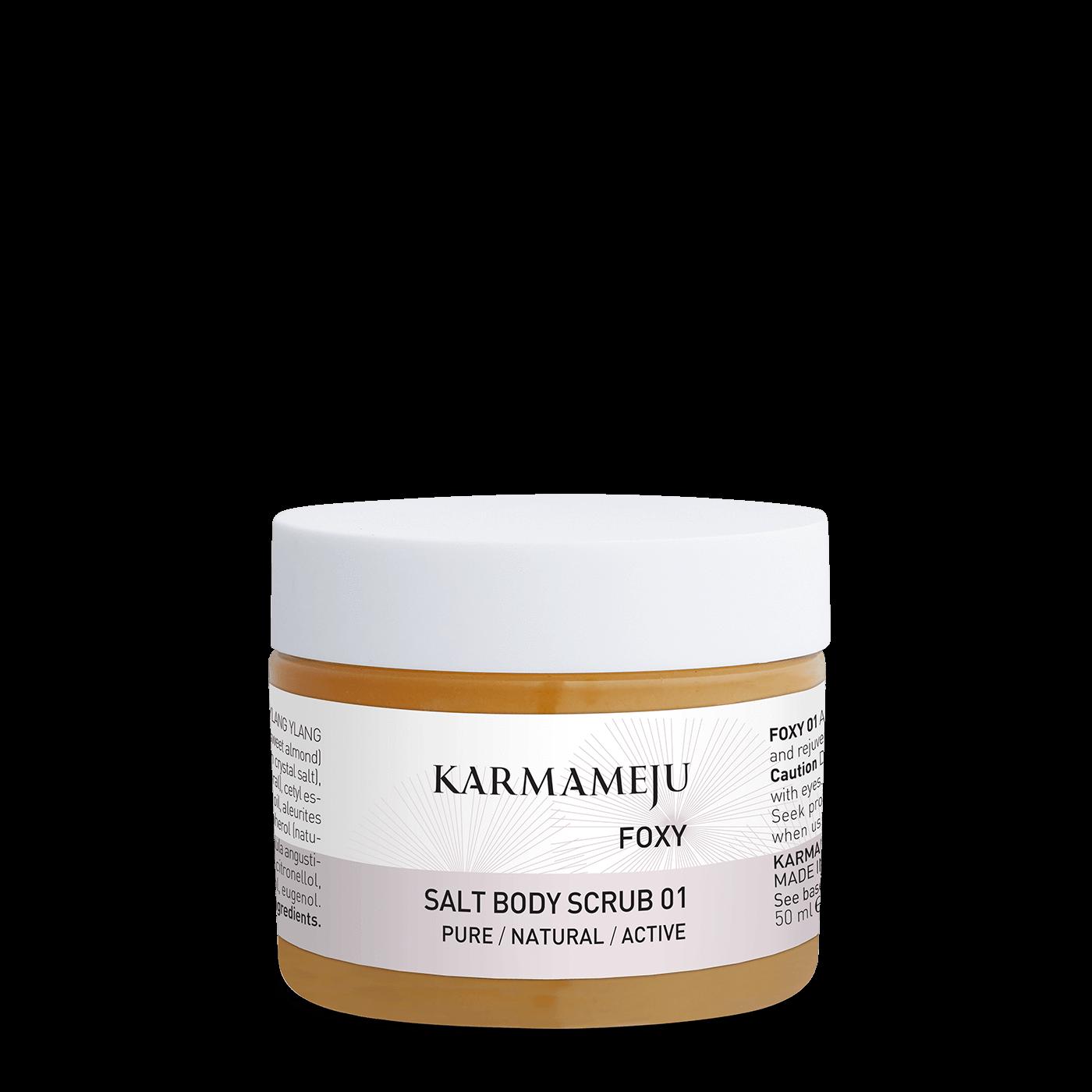 Karmameju FOXY / SALT BODY SCRUB 01 - Travel size