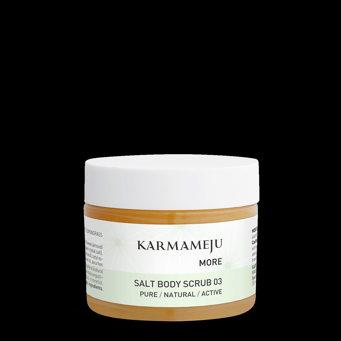 Karmameju MORE / SALT BODY SCRUB 03 - Travel size