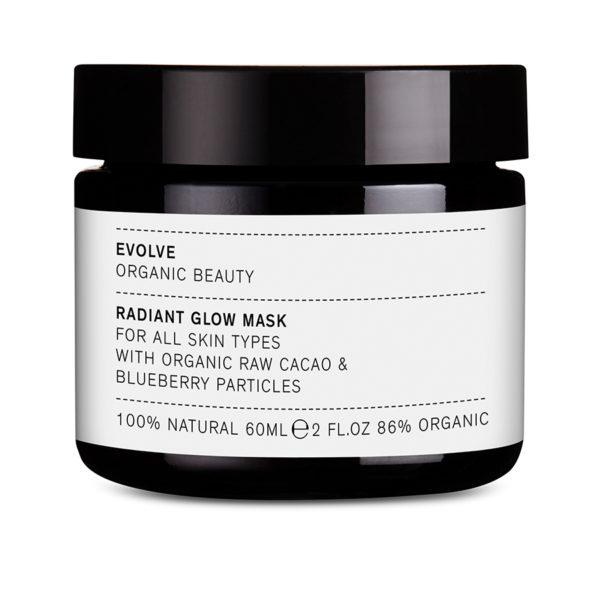 EVOLVE RADIANT GLOW MASK WITH BLUEBERRY PARTICLES