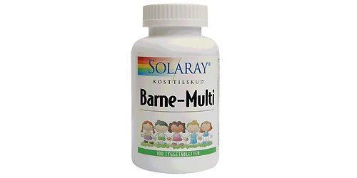 Solaray Barne-Multi tyggevit. børn