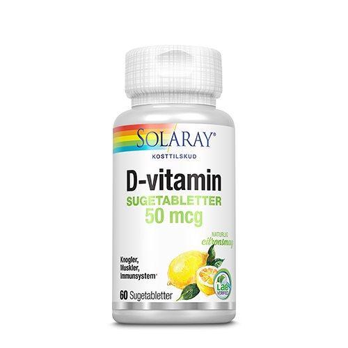 Solaray D-vitamin 50 mcg
