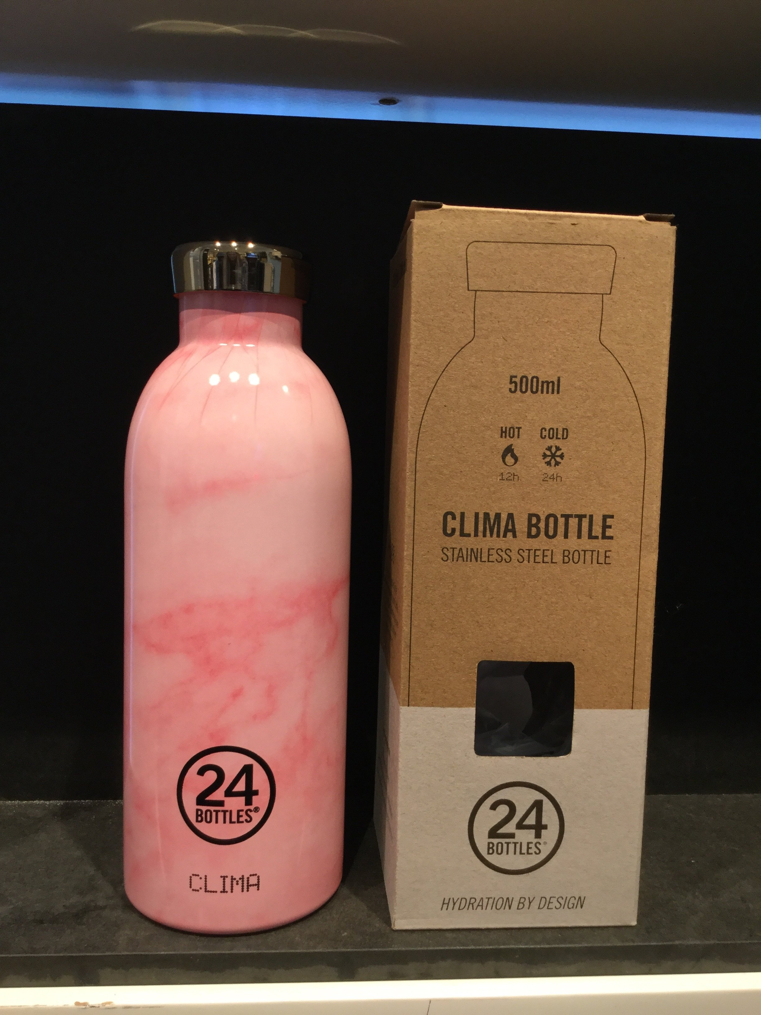 24 bottles 500 ml. Pink Marble