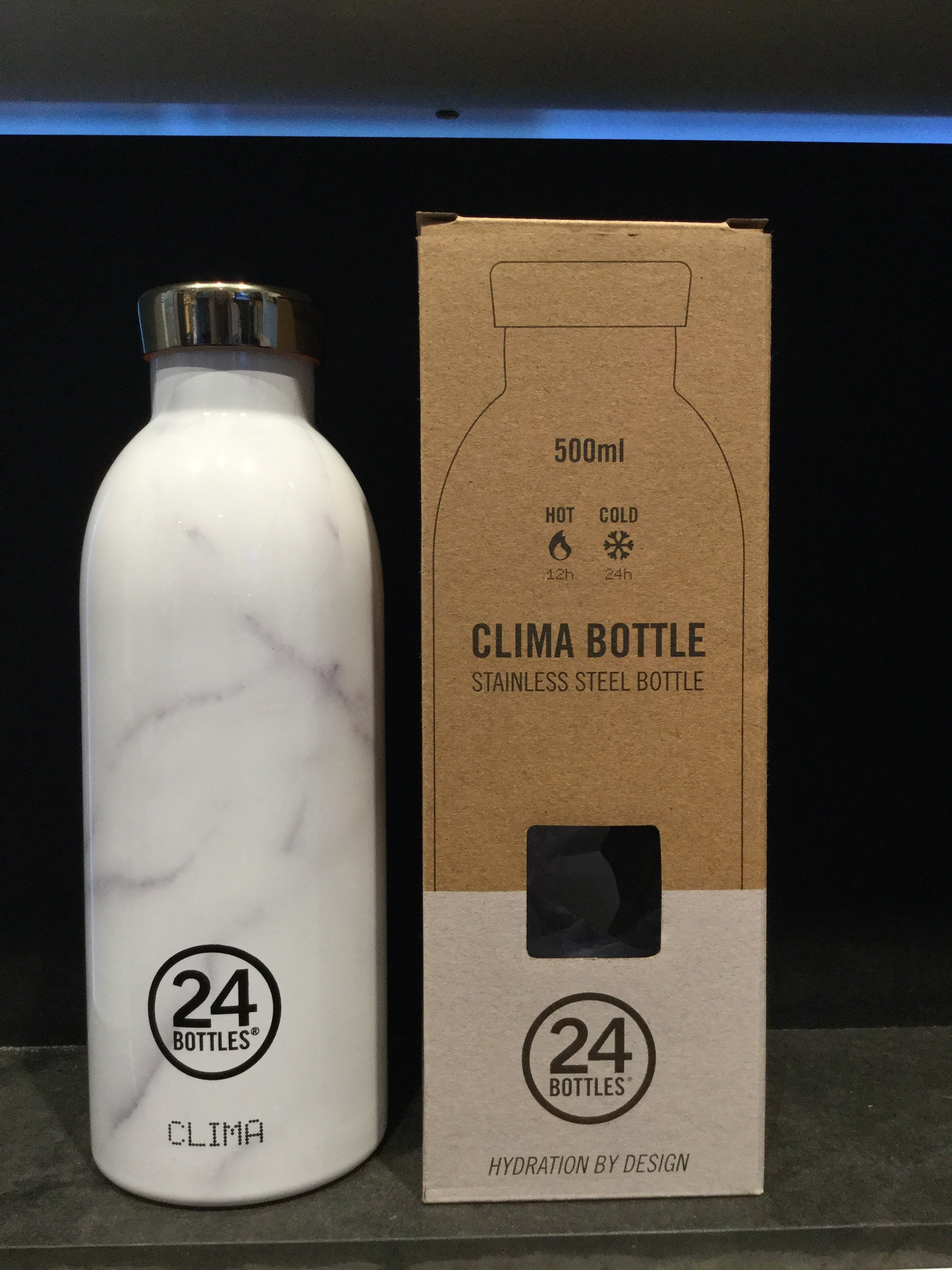 24 bottles 500 ml. White Marble