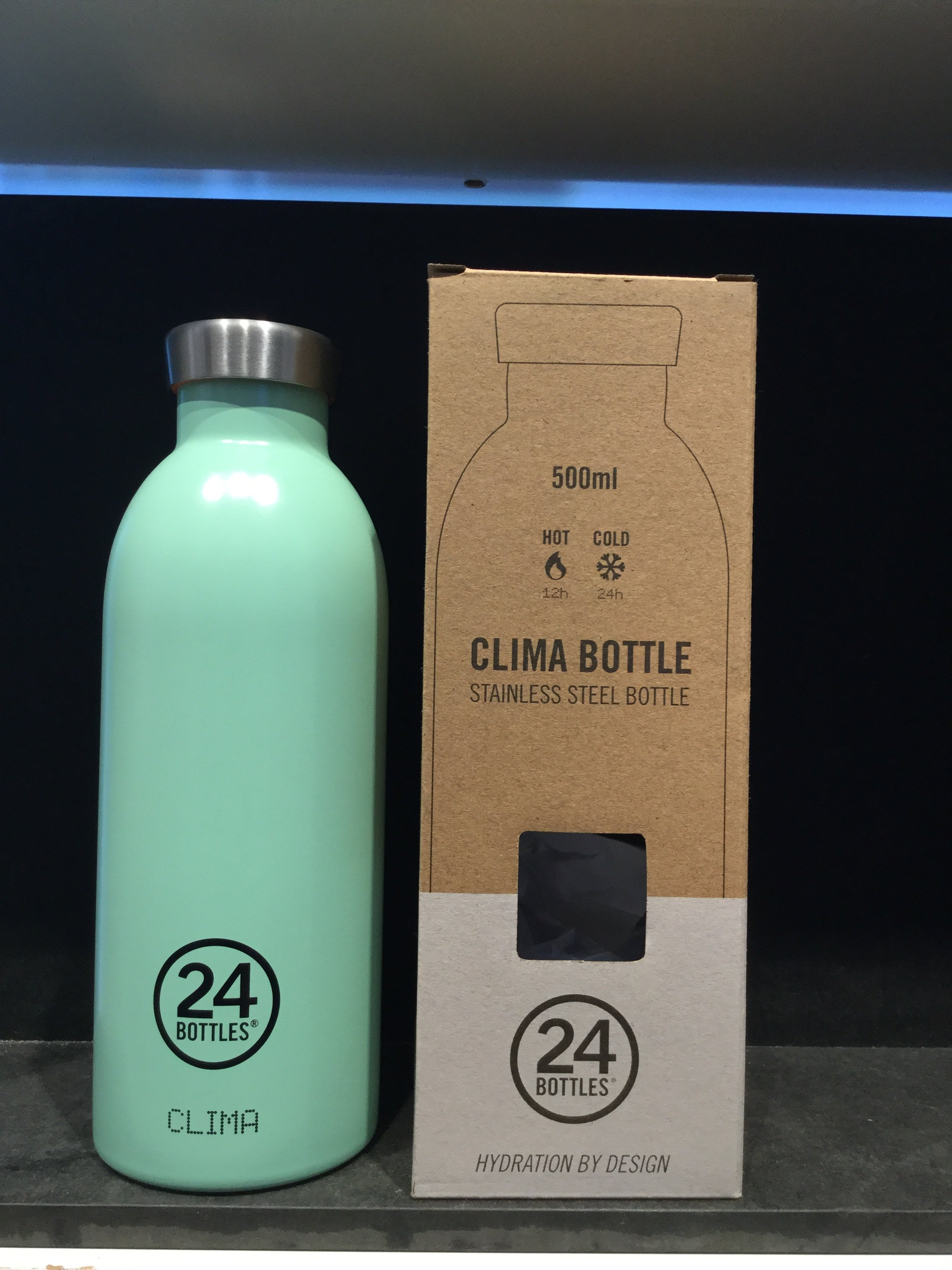 24 bottles 500 ml. Mint green