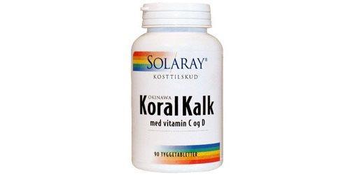 Solaray KoralKalk med vit. C og D tyggetablet