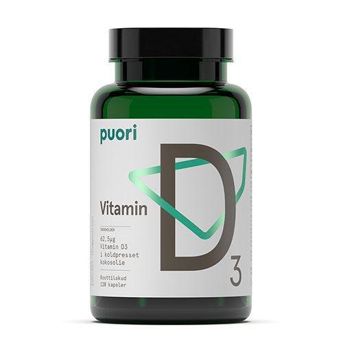 Puori Vitamin D3 62,5mcg i kokosolie